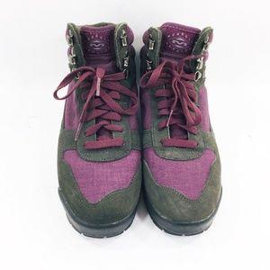 Merrell Rambler Hiking Boots Purple Lace Up Womens